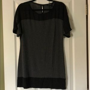 WHBM black and grey tunic
